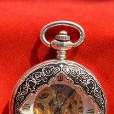 Relojes de bolsillo: RELOJ DE BOLSILLO SABONETA EN PLATA 3 TAPAS. Lote 53479838