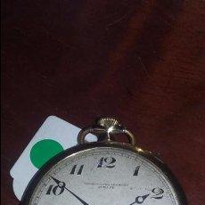 Relojes de bolsillo: RELOJ DE CRONOMETRO MODERNO QUILLET PLAQUÉ ORO 20 MICRAS. EXTRAPLANO. FUNCIONANDO. Lote 53542587