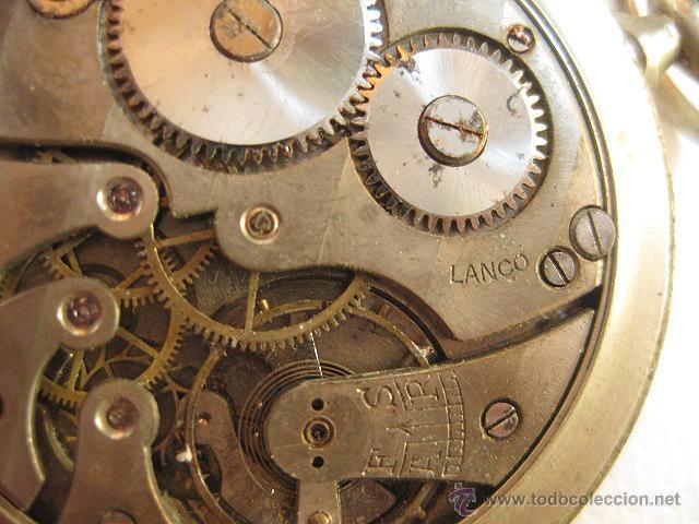 Relojes de bolsillo: Reloj de bolsillo Lanco. Para reparar o piezas. - Foto 4 - 53731184