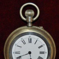 Relojes de bolsillo: ANTIGUO RELOJ DE BOLSILLO EN ALPACA DE LA MARCA DIOGENE. Lote 53806475