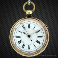 Relojes de bolsillo: REF.: W0058 ---RELOJ DE BOLSILLO CRONÓMETRO DE MÉDICOS. CIRCA 1875--- EL 1º MODELO DE CRONOMETRO. Lote 53988564