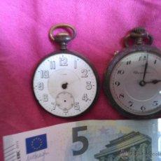 Relojes de bolsillo: LOTE DE 2 RELOJES DE BOLSILLO. NO FUNCIONAN. Lote 53989286