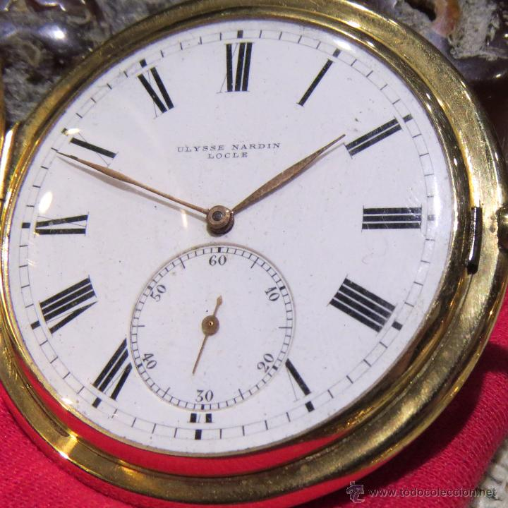ANTIGUO ORIGINAL RELOJ ORO ULYSSE NARDIN - IMPECABLE (Relojes - Bolsillo Carga Manual)