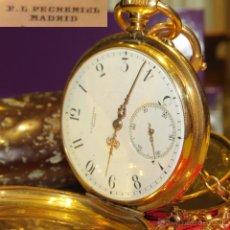 Relojes de bolsillo: RELOJ ORO 18K - MARCA P. L. PECHEMIEL - MADRID - IMPECABLE ESTADO Y MARCHA. Lote 54292028