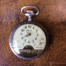 Relojes de bolsillo: RELOJ DE BOLSILLO HEBDOMAS 8 JOURS DE PLATA. EN FUNCIONAMIENTO.. Lote 54368729