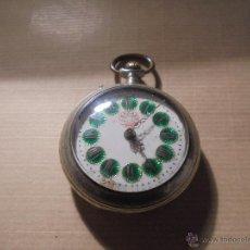Relojes de bolsillo: ANTIGUO RELOJ DE BOLSILLO A CUERDA SISTEMA ROSKOPF ESFERA CON NUMEROS VERDES ,. Lote 54693348