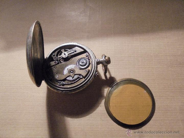 Relojes de bolsillo: ANTIGUO RELOJ DE BOLSILLO A CUERDA SISTEMA ROSKOPF ESFERA CON NUMEROS VERDES , - Foto 3 - 54693348