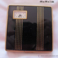Relojes de bolsillo: RELOJ DE CUERDA ANTIGUO EN POLVERA PARA BOLSO ILLINOIS. Lote 54741992
