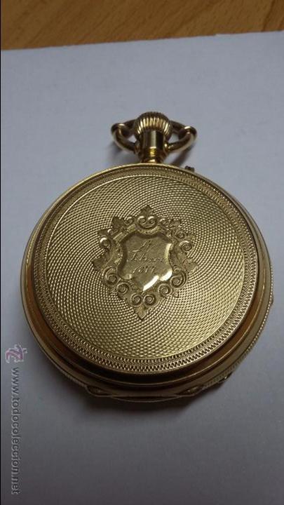 RELOJ DE BOLSILLO DE ORO DE 18 K.. TRES TAPAS PERFECTO FUNCIONAMIENTO (Relojes - Bolsillo Carga Manual)