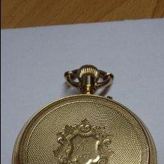 Relojes de bolsillo: RELOJ DE BOLSILLO DE ORO DE 18 K.. TRES TAPAS PERFECTO FUNCIONAMIENTO. Lote 54803050