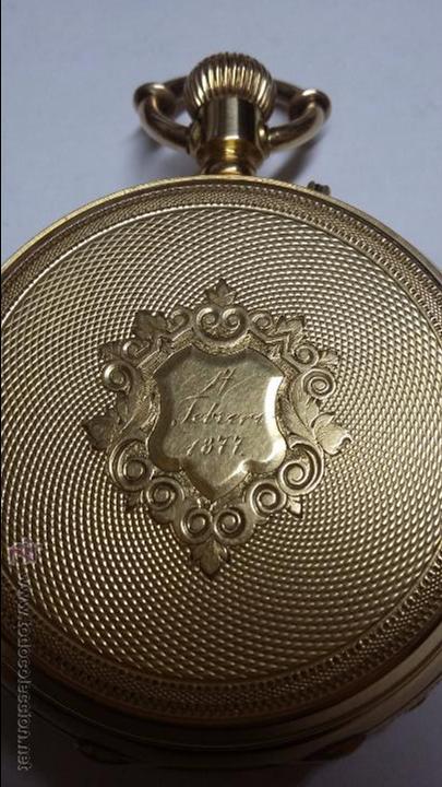 Relojes de bolsillo: RELOJ DE BOLSILLO DE ORO DE 18 K.. TRES TAPAS PERFECTO FUNCIONAMIENTO - Foto 2 - 54803050