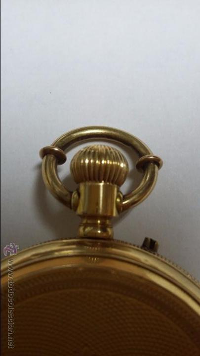 Relojes de bolsillo: RELOJ DE BOLSILLO DE ORO DE 18 K.. TRES TAPAS PERFECTO FUNCIONAMIENTO - Foto 3 - 54803050