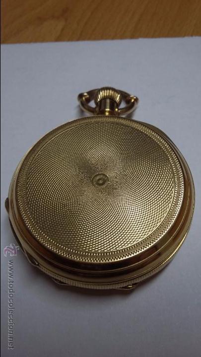 Relojes de bolsillo: RELOJ DE BOLSILLO DE ORO DE 18 K.. TRES TAPAS PERFECTO FUNCIONAMIENTO - Foto 4 - 54803050