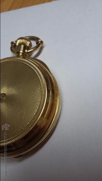 Relojes de bolsillo: RELOJ DE BOLSILLO DE ORO DE 18 K.. TRES TAPAS PERFECTO FUNCIONAMIENTO - Foto 5 - 54803050