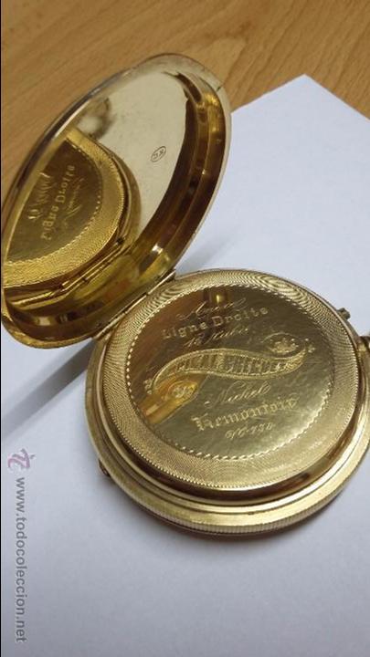Relojes de bolsillo: RELOJ DE BOLSILLO DE ORO DE 18 K.. TRES TAPAS PERFECTO FUNCIONAMIENTO - Foto 8 - 54803050