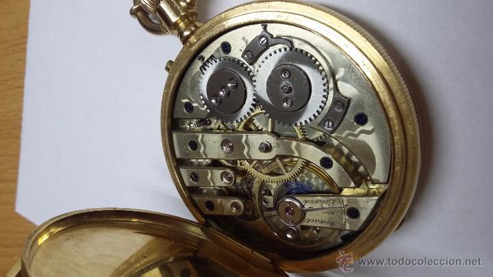 Relojes de bolsillo: RELOJ DE BOLSILLO DE ORO DE 18 K.. TRES TAPAS PERFECTO FUNCIONAMIENTO - Foto 9 - 54803050