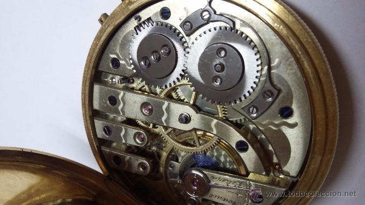 Relojes de bolsillo: RELOJ DE BOLSILLO DE ORO DE 18 K.. TRES TAPAS PERFECTO FUNCIONAMIENTO - Foto 10 - 54803050