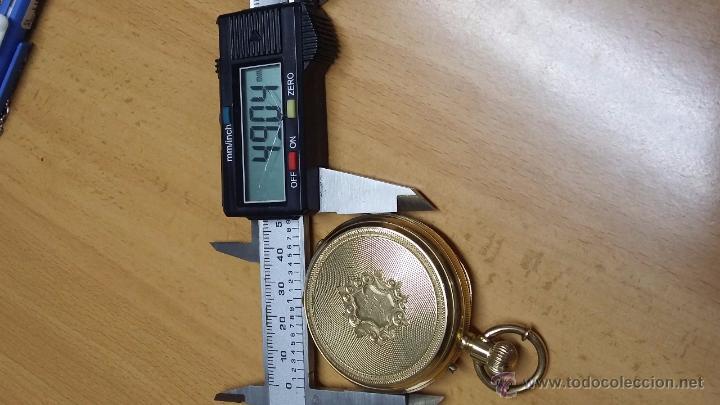 Relojes de bolsillo: RELOJ DE BOLSILLO DE ORO DE 18 K.. TRES TAPAS PERFECTO FUNCIONAMIENTO - Foto 12 - 54803050