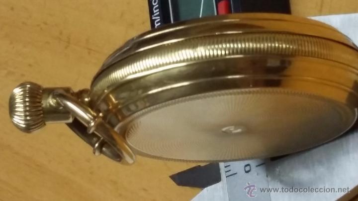 Relojes de bolsillo: RELOJ DE BOLSILLO DE ORO DE 18 K.. TRES TAPAS PERFECTO FUNCIONAMIENTO - Foto 14 - 54803050