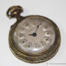 Relojes de bolsillo: RE293 TECHNOS. CAJA EN BRONCE. ESFERA METÁLICA. FUNCIONA. SUIZA. AÑOS 30. Lote 49394952