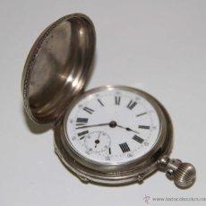 Relojes de bolsillo: RE285 MONNARD SABONETA. PLATA 800. ESFERA PORCELANA. NO FUNCIONA. SUIZA. FIN. S. XIX. Lote 48642718