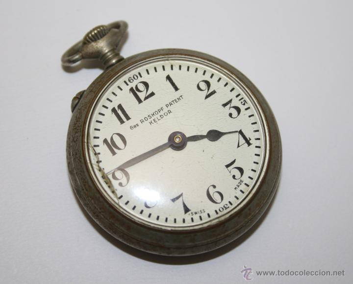 RE206 RELOJ ROSKOPF PATENT KELDOR - CAJA METÁLICA - ESFERA PORCELANA - FUNCIONA (Relojes - Bolsillo Carga Manual)