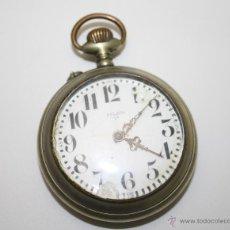 Relojes de bolsillo: RE211 RELOJ PELAYO 1ª - CAJA METÁLICA - ESFERA PORCELANA CON FALTAS - FUNCIONA - S. XIX. Lote 45571777