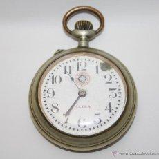 Relojes de bolsillo: RE212 RELOJ VAPORE REGULATEUR - CAJA METÁLICA - ESFERA PORCELANA - NO FUNCIONA - S. XIX. Lote 45571814