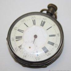 Relojes de bolsillo: RE257 RELOJ C. ROBERT - GENEVE - REMONTOIR ANCRE 15 RUBIS - CAJA PLATA - PRECISA RESTAURACIÓN. Lote 45640115