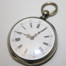 Relojes de bolsillo: RE260 RELOJ E. CAVIALLE A RODEZ - CAJA DE PLATA - ESFERA PORCELANA - S. XIX. Lote 45640470