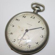 Relojes de bolsillo: RE261 RELOJ ANONA - CAJA Y ESFERA METÁLICAS - NO FUNCIONA - PRINCIPIO S. XX. Lote 45640536