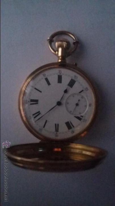 Relojes de bolsillo: RELOJ DE BOLSILLO DE ORO DE 18 K.. TRES TAPAS PERFECTO FUNCIONAMIENTO - Foto 16 - 54803050