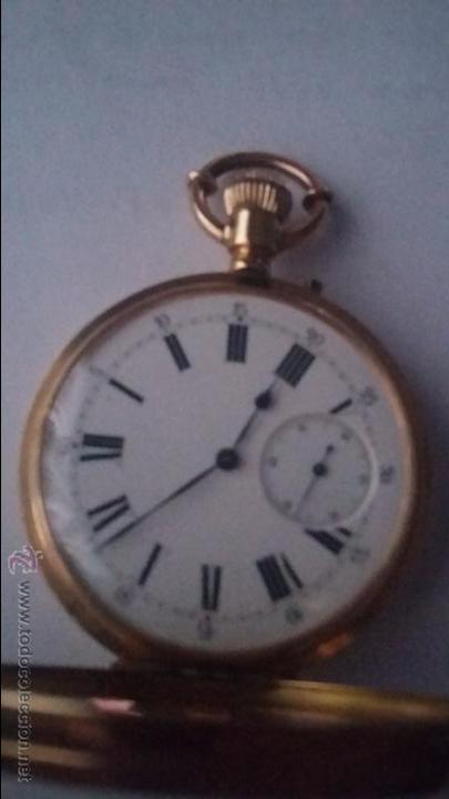 Relojes de bolsillo: RELOJ DE BOLSILLO DE ORO DE 18 K.. TRES TAPAS PERFECTO FUNCIONAMIENTO - Foto 17 - 54803050