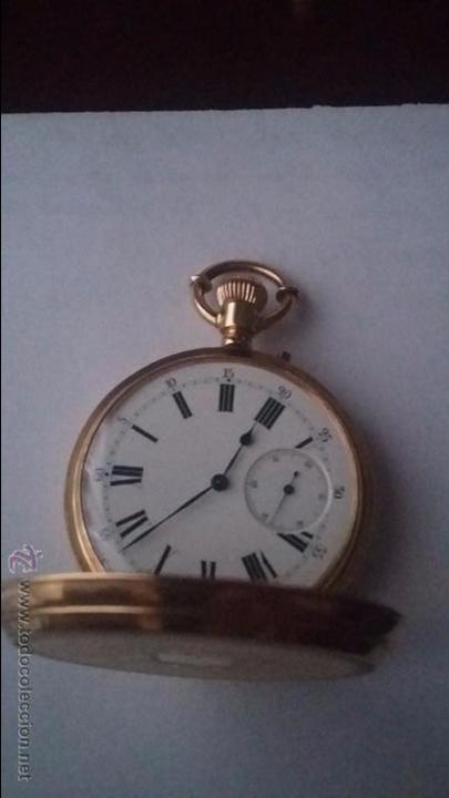 Relojes de bolsillo: RELOJ DE BOLSILLO DE ORO DE 18 K.. TRES TAPAS PERFECTO FUNCIONAMIENTO - Foto 18 - 54803050
