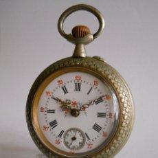 Relojes de bolsillo: RELOJ BOLSILLO DE SEÑORA ESMALTADO. FINES S.XIX. MARCA BONNE. FRANCÉS. FUNCIONA.. Lote 54881330