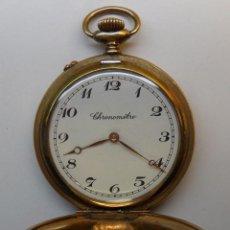 Relojes de bolsillo: RELOJ LEPINE DE BOLSILLO CHRONOMETRE CHAPADO EN ORO DE CARGA MANUAL. Lote 55018011