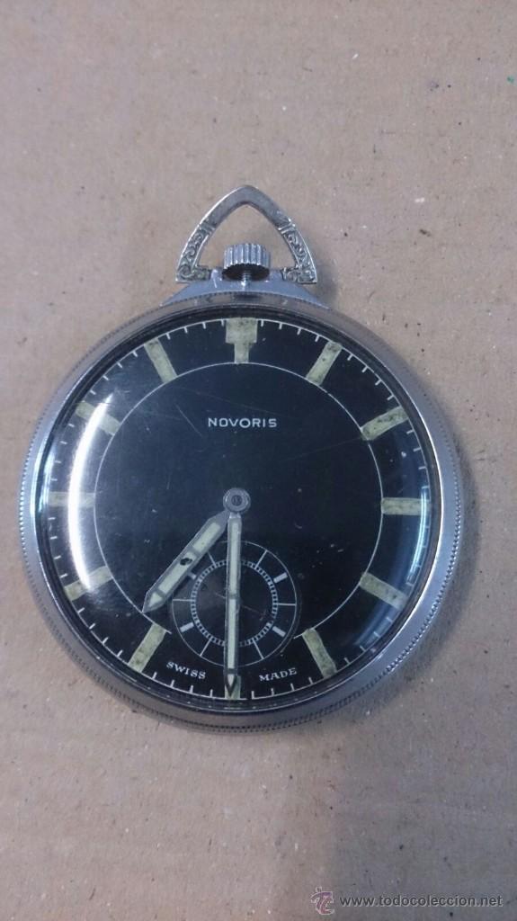 RELOJ DE BOLSILLO NOVORIS, SUIZO (Relojes - Bolsillo Carga Manual)
