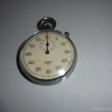 Relojes de bolsillo: CRONOGRAFO ANTIGUO - HEUER - 7,5X5,3 CM. ( PARADO ) VER FOTG. CAJA DE ACERO .. Lote 55845802