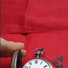 Relojes de bolsillo: RELOJ BOLSILLO CATALINO DEL SIGLO XVIII CON CHICHONERA. FUNCIONANDO. Lote 55897102