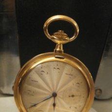 Relojes de bolsillo: RELOJ BOLSILLO CABALLERO, DE ORO, 1900, MOVADO . Lote 55938259