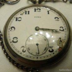 Relojes de bolsillo: RELOJ BOLSILLO MARCA CYMA, 5 CM DE DIÁMETRO. Lote 56024637