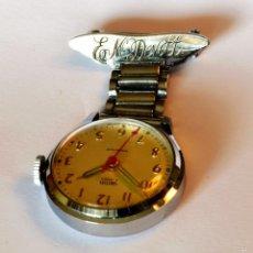 Relojes de bolsillo: ANTIGUO RELOJ BROCHE SMITHS , CUERDA, SUPERVINTAGE. Lote 56085790