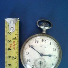 Relojes de bolsillo: FUNCIONA ANTIGUO RELOJ CONTY 53 MM DIAMETRO Y 13 MM DE ESPESOR CARGA MANUAL FUNCIONANDO. Lote 175017104