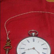 Relojes de bolsillo: RELOJ DE BOLSILLO DE PLATA . FUNCIONANDO. Lote 56144499