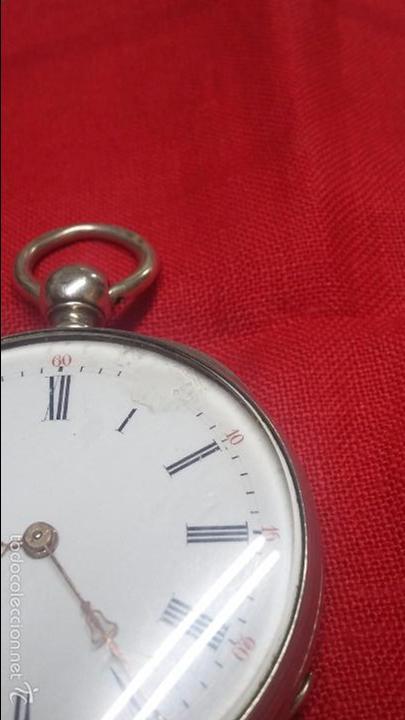 Relojes de bolsillo: RELOJ DE BOLSILLO DE PLATA . FUNCIONANDO - Foto 2 - 56144499