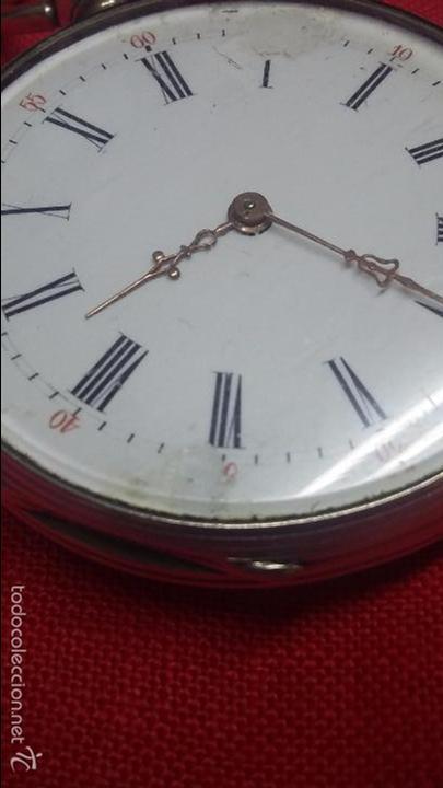 Relojes de bolsillo: RELOJ DE BOLSILLO DE PLATA . FUNCIONANDO - Foto 3 - 56144499