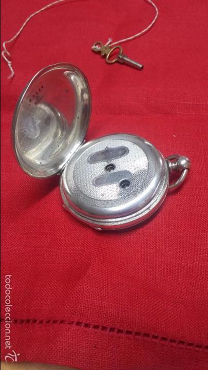 Relojes de bolsillo: RELOJ DE BOLSILLO DE PLATA . FUNCIONANDO - Foto 7 - 56144499