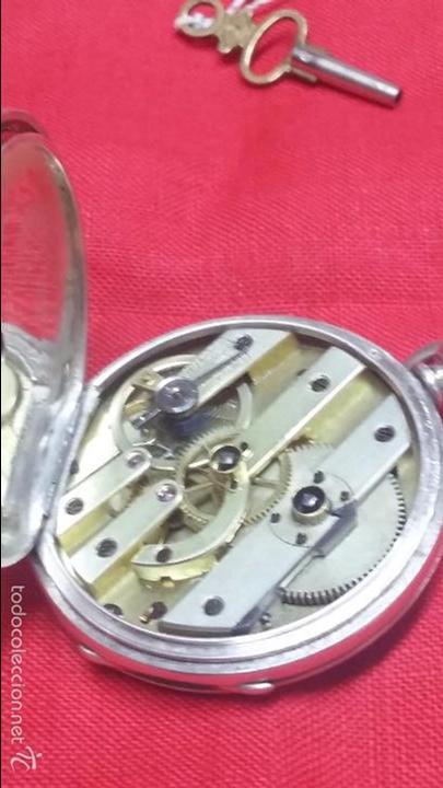 Relojes de bolsillo: RELOJ DE BOLSILLO DE PLATA . FUNCIONANDO - Foto 10 - 56144499