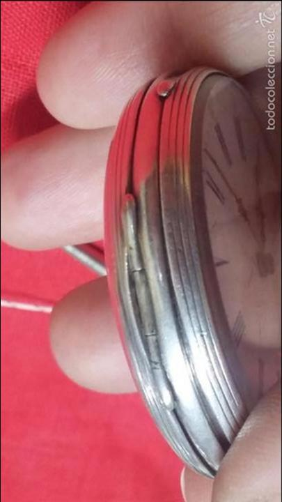 Relojes de bolsillo: RELOJ DE BOLSILLO DE PLATA . FUNCIONANDO - Foto 13 - 56144499