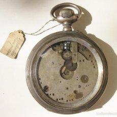 Relojes de bolsillo: RELOJ DE BOLSILLO DE GRAN TAMAÑO DE PLATA - REGLAJE BREGUET. Lote 56149758